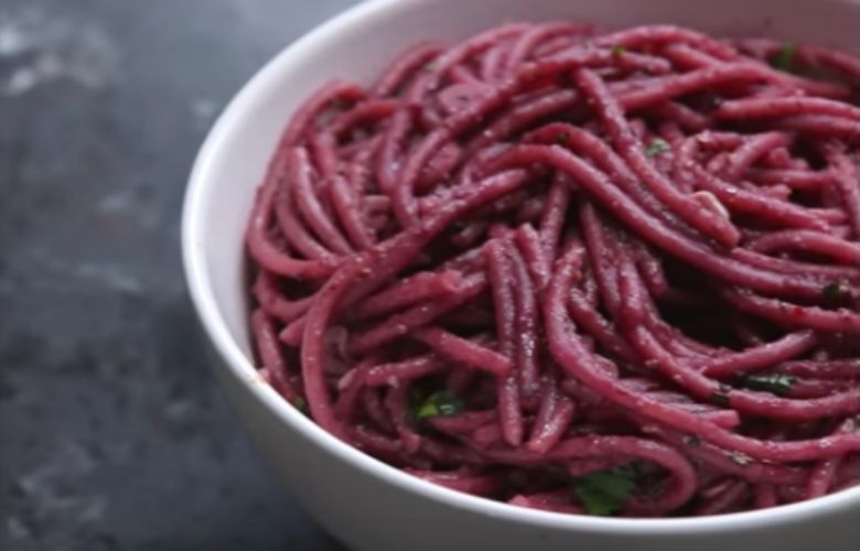 Rode wijn spaghetti